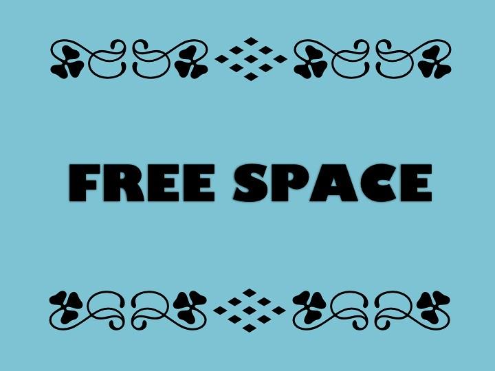 buzzword bingo  free space