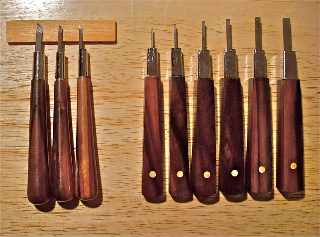Japanese Woodblock Tools This Is My Nicer Set Of