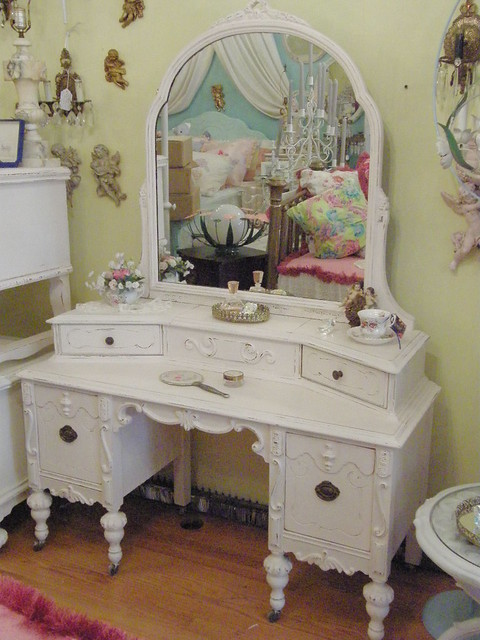 Pink Antique Vanity Shabby Chic Distressed
