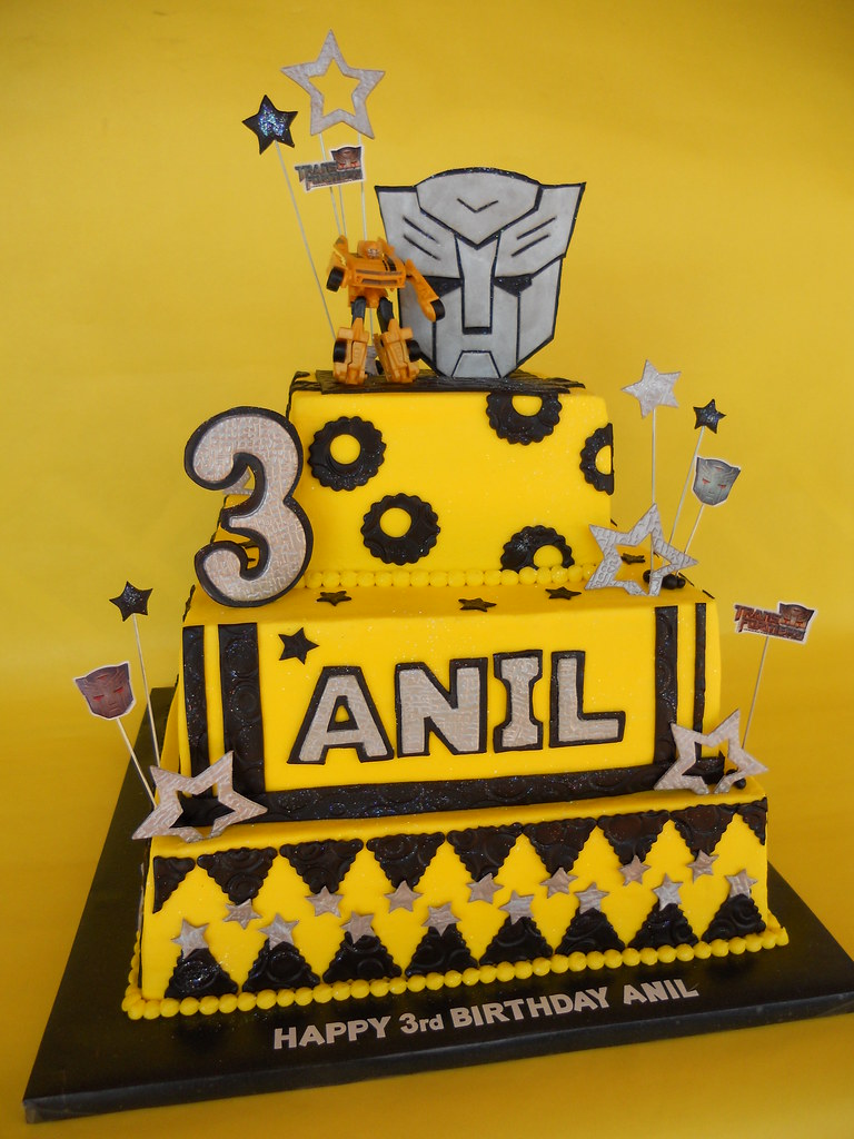 Transformers Bumblebee Birthday Cake Amy Stella Flickr