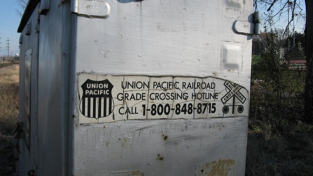 Union Pacific Railroad Railroad Crossing Signal Relay Cabi