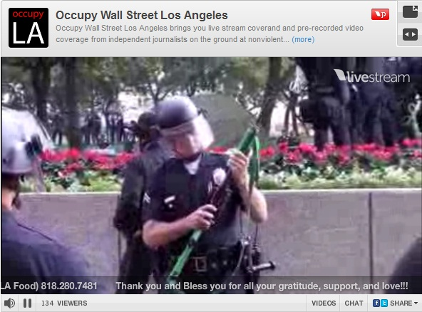 Less-lethal shotgut Occupy LA B of A BofA