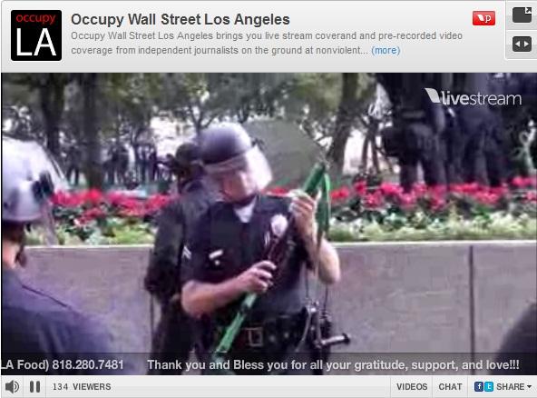Less-lethal shotgut Occupy LA B of A BofA