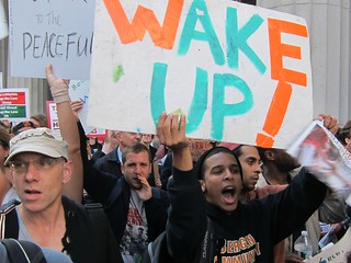 Occupy Wall Street: Day 19, March to Foley Square, Wake up! | by Scoboco
