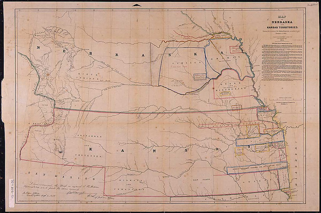 Map of Nebraska and Kansas Territories 1854 Original Capt Flickr