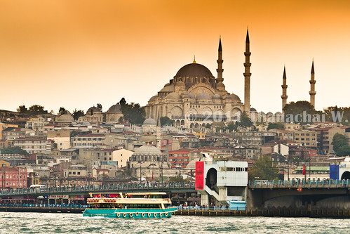 Galata Bridge and Süleymaniye Mosque | by Beum Gallery
