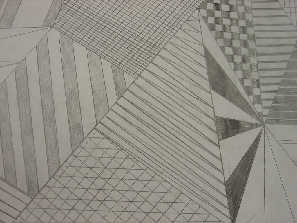 Straight Line Designs In Art : Student work art fundamental straight line drawing flickr