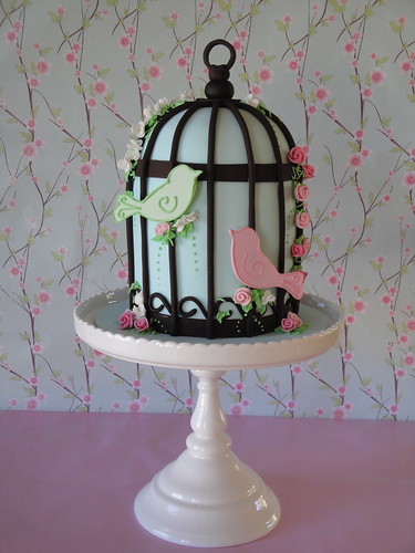 Two Little Birds This Is My Very First Bird Cage Cake