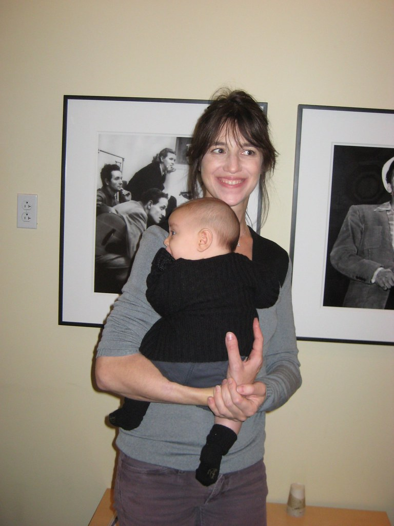 charlotte gainsbourg  with child