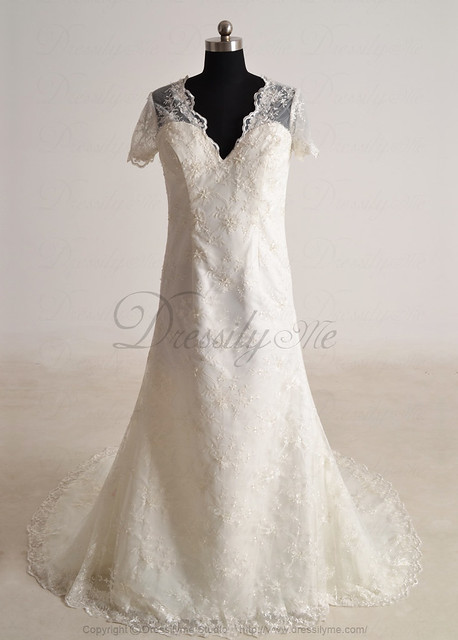 Dressilyme wedding dresses wedding dress with short for Dressilyme wedding dress