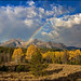 Rainbow in the Autumn Sawtooths Mountains of Idaho
