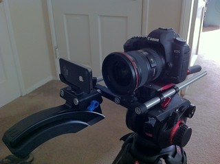 iPhone 4S vs Canon 5D test rig | by Robino Jones