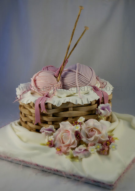 Knitting Basket Cake I Made This For A Lady S Mom Who