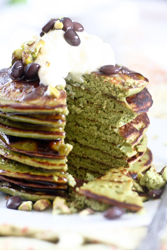 Matcha Green Tea Coconut Pancakes-22 | These Matcha buttermi ...