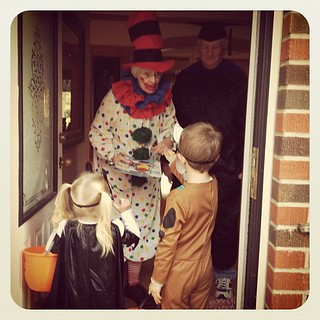 Trick or treating the grandparents. | by blueroot