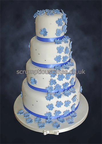 Wedding Cake Ideas For Summer Wedding : Wedding Cake (799) - Cornflower Blue Orchid Cascade Flickr