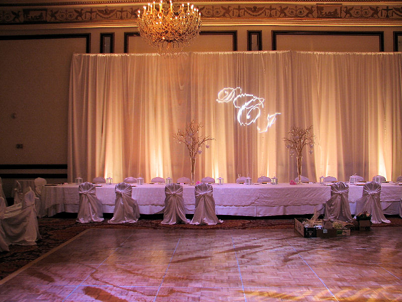 Head Table With Bride Amp Groom Initials With The Couples