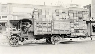 People driving trucks, loaded with produce! 1925 | by OSU Special Collections & Archives : Commons