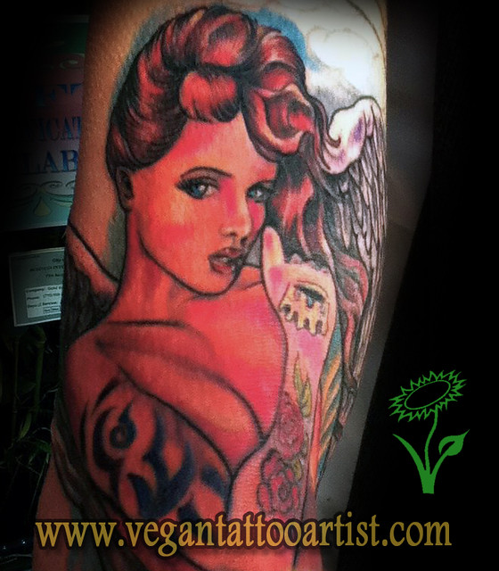 Sexy girl angel tattoo flickr photo sharing for Sexy angel tattoo