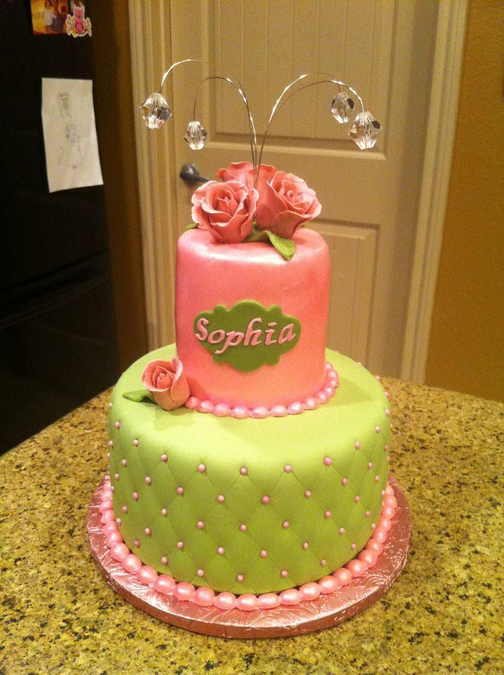 Diamond And Pearl Baby Shower Cake | Monicamartinez95 | Flickr