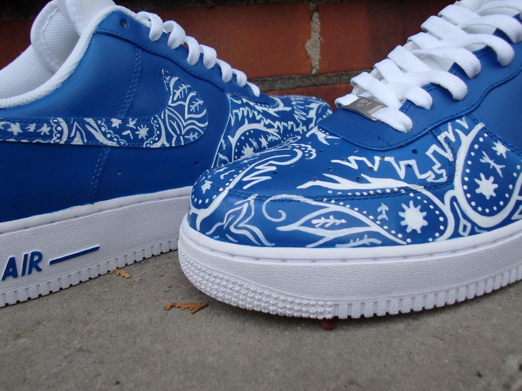 Blue Bandana Shoes Nike