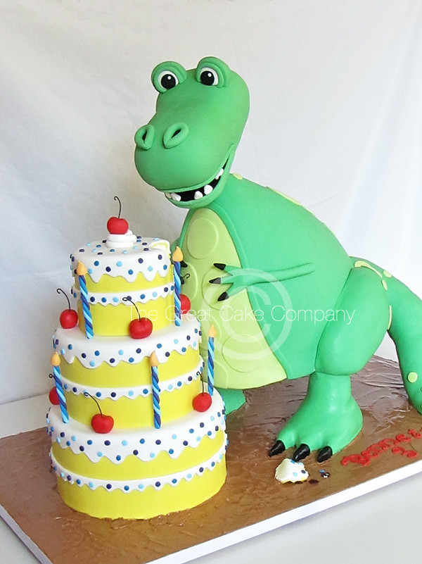 Trex Dinosaur Cake THIS DESIGN IS NOT MY OWN Per my cl Flickr