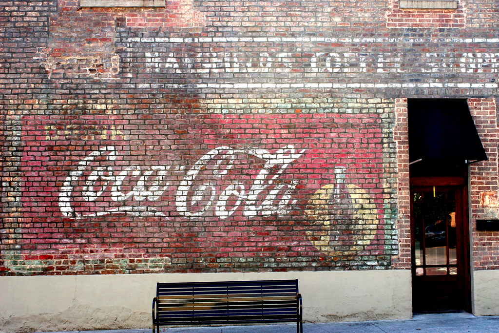 Faded Coca-Cola Mural - Dayton, TN | This mural faces a