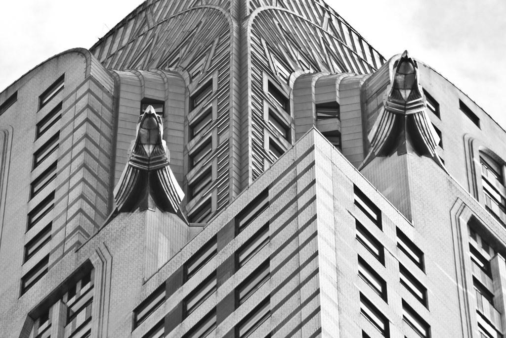 chrysler building black and white wallpaper. chrysler building gargoyles by michael_hamburg69 black and white wallpaper