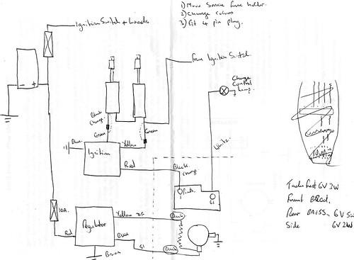 puch 175 svs wiring diagram  using electronic dynamo regul u2026