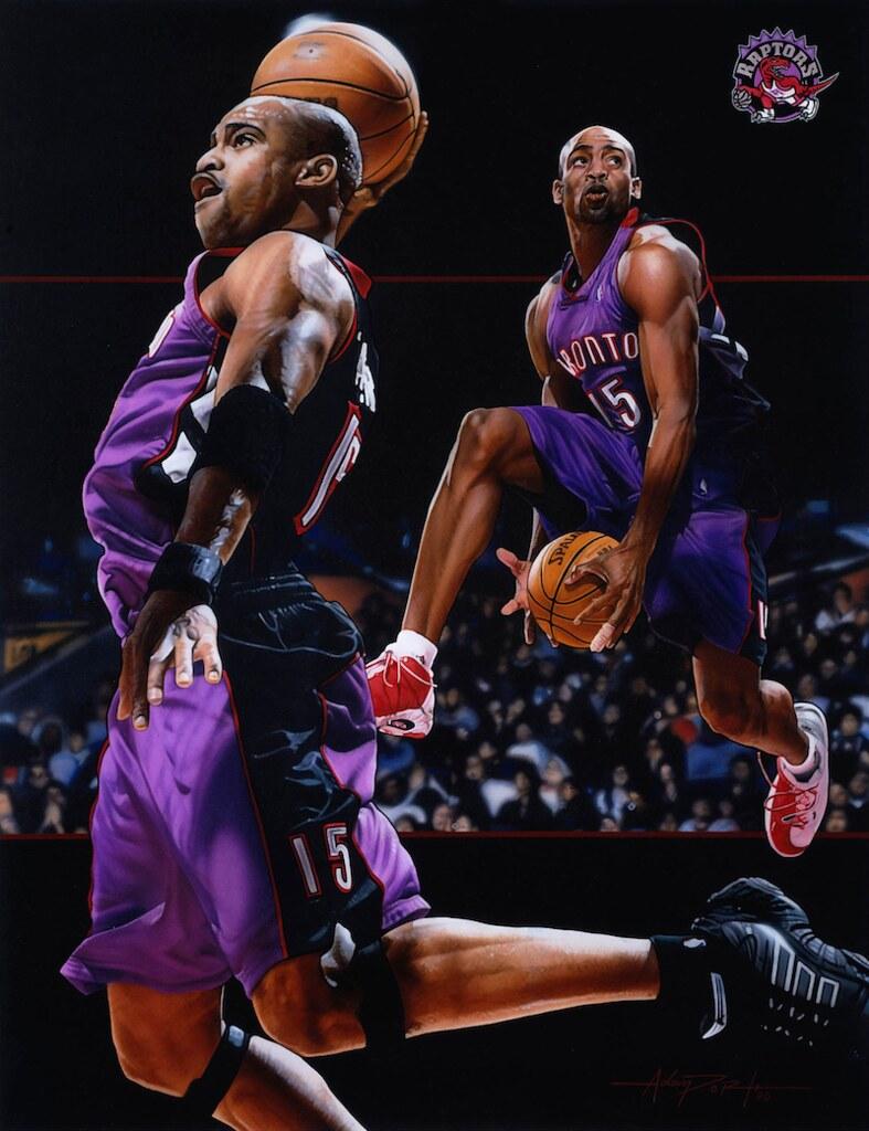 Vince Carter Basketball Painting Vince Carter basketball p…