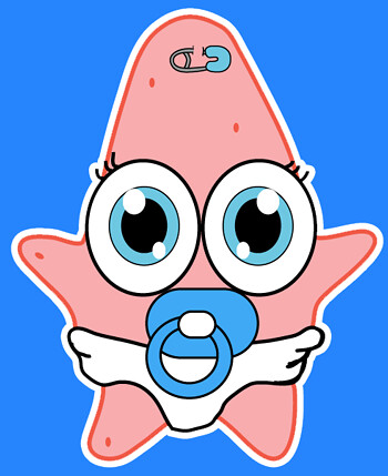 cute baby patrick star