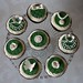 Moss Green and Cream Vintage Style Cupcakes
