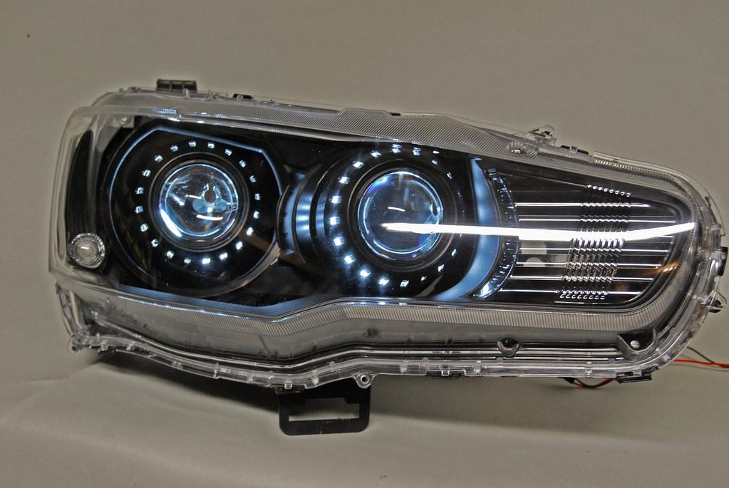 evo x quad bi xenon hid projector headlights flickr. Black Bedroom Furniture Sets. Home Design Ideas