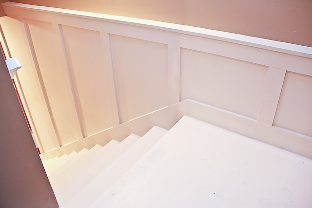 Painted Basement Stairs With Board And Batten 18 Of 26