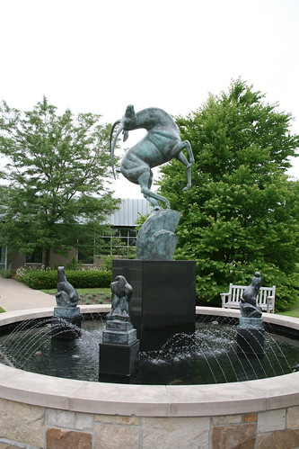 Leaping Gazelle, Cranbrook, Bloomfield Hills, Michigan | by Marshall M. Fredericks Sculpture Museum