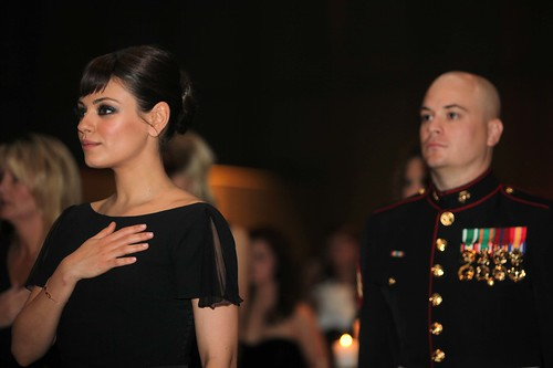 Sgt. Scott Moore and Mila Kunis | by United States Marine Corps Official Page