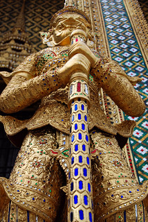 Mythical Temple Guardian Wat Phra Kaew Temple Of The Emerald Buddha Bangkok Thailand | by Dragos Cosmin- Getty Images Artist