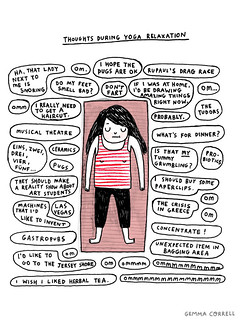 yoga thoughts | by gemma correll
