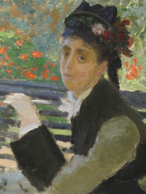 Camille Monet On A Garden Bench Flickr Photo Sharing