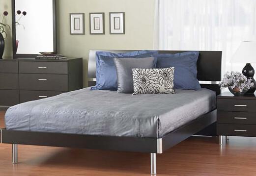 ... $200  Plummers Furniture Bellmar Queen Size Solid Dark Wood Platform  Bed ($429) |