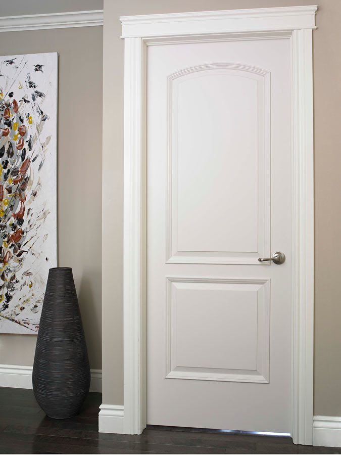 Continental smooth finish moulded interior door doors for Interior trim and door color ideas