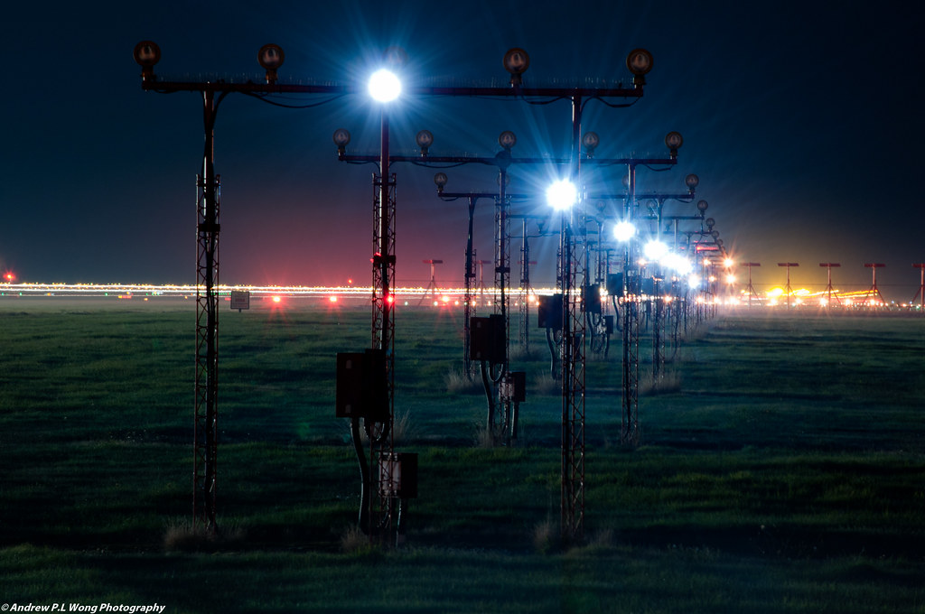 ... Airport Runway Lights At Night | By Andrew P.L Wong Awesome Design