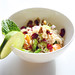 Brown Rice Bowl with cranberries, walnuts, orange and mint