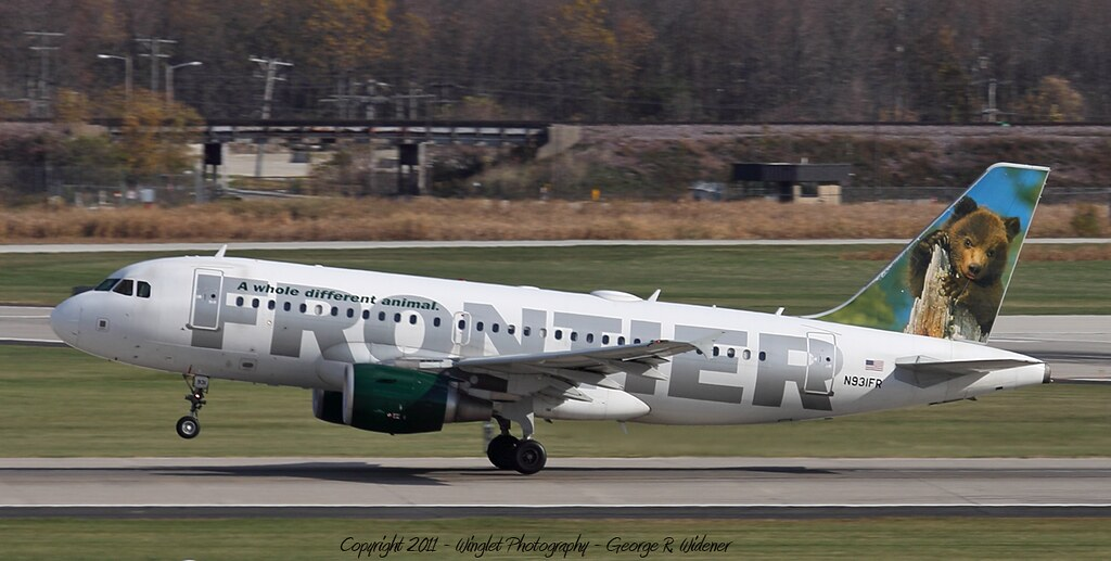 Frontier Airlines Airbus A319-111 N931FR | Frontier Flight ...