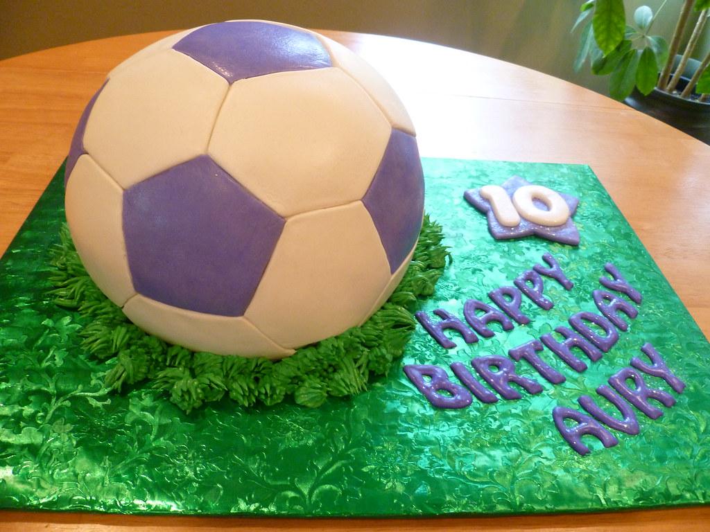 Soccer Ball Birthday Cake Vanilla Cake With Mango Mousse Flickr
