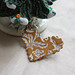 Antique gold brooch:  christmas photos