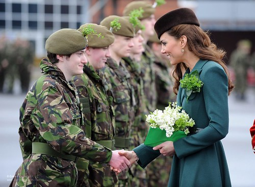 Catherine, Duchess of Cambridge Visits The Irish Guards on St Patrick's Day | by Defence Images