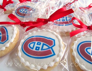 Habs cookie favors | by L&V sweets
