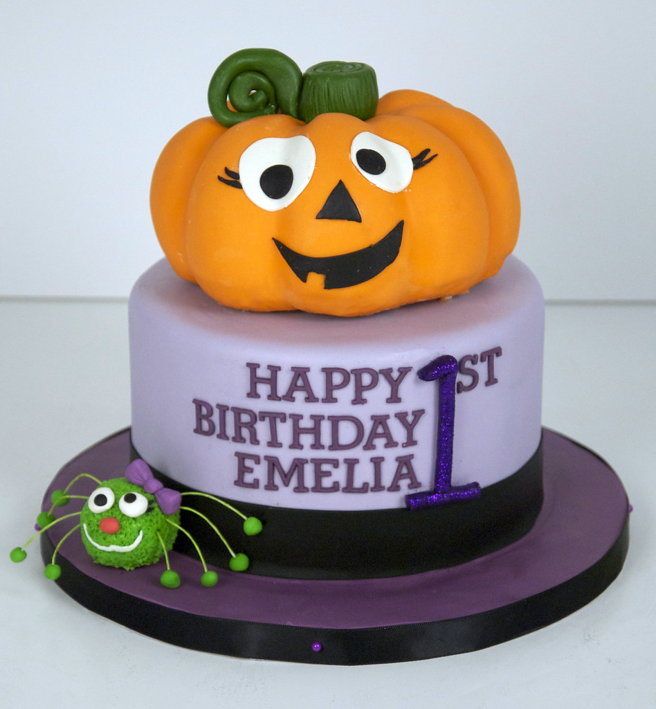Pumpkin 1st Birthday Cake Toronto