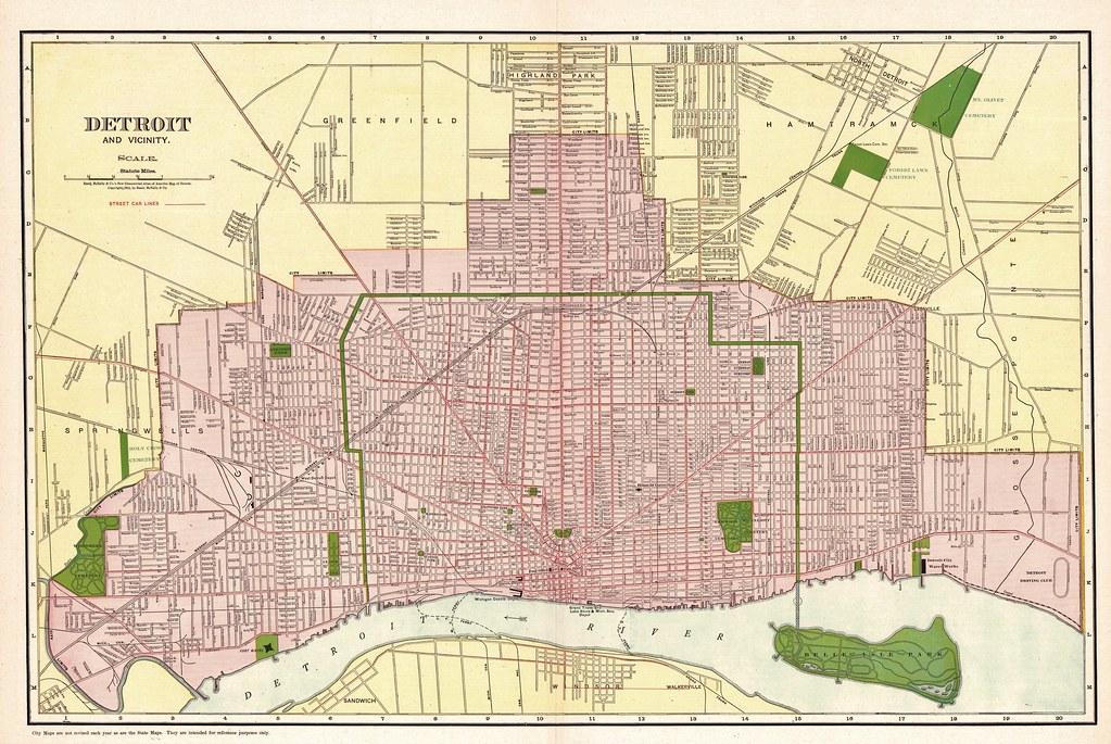 Detroit Street Map, 1911   thornydalemapco   Flickr